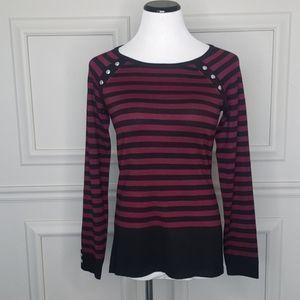 Zinfandel striped sweater